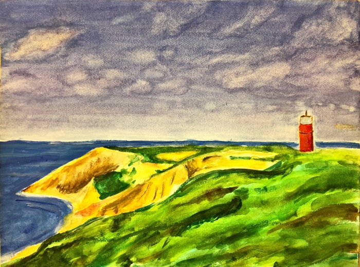 Gulf Coast Lighthouse; Watercoloar on Paper; 26 in. by 18 in.
